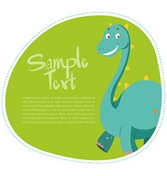Border design with cute dinosaur vector image