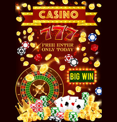 Casino poker jackpot gambling games vector