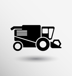 Combine harvester icon button logo symbol concept vector