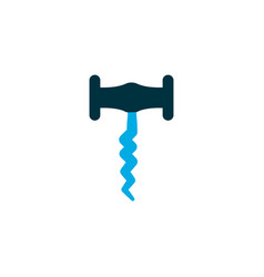 corkscrew icon colored symbol premium quality vector image