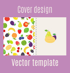 Cover design with fruits pattern vector