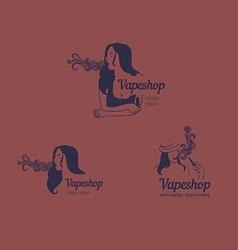 Creative logos for the club shop or electronic cig vector