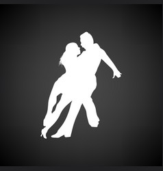 Dancing pair icon vector