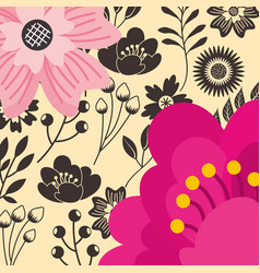 decorative flowers natural floral background vector image