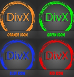 DivX video format sign icon symbol Fashionable vector image