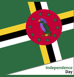 Dominica independence day vector