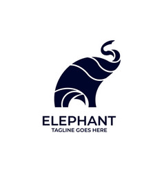 elephant silhouette design concept template vector image