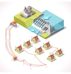 Energy 14 Infographic Isometric vector image