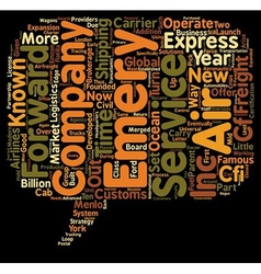 Express air freight text background wordcloud vector