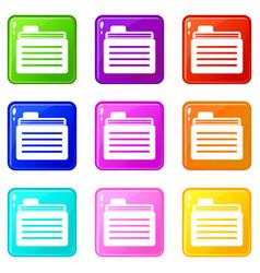 File folder set 9 vector