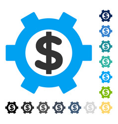 Financial settings icon vector