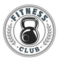 Fitness logo club image vector