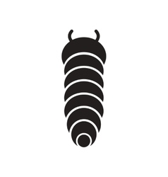 Flat icon in black and white style insect vector