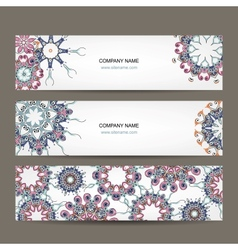 Floral banners design with place for your text vector image