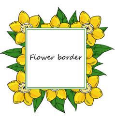 flower drawing frame vector image