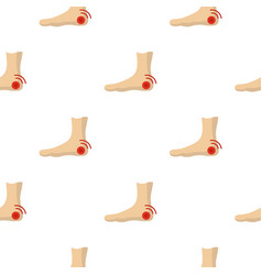 Foot heel pattern seamless vector
