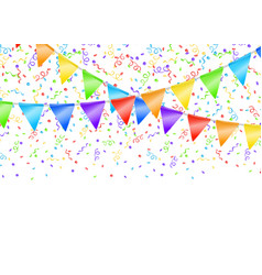 garland and confetti vector image