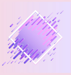 glitched geometric colorful banner with distortion vector image