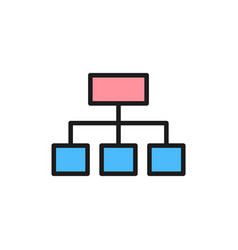 Hierarchical graph structure flat color vector