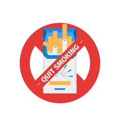 Isolated sign of stop smoking cigarette vector