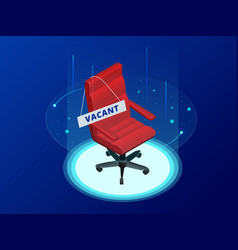 Isometric job recruiting advertisement job vector