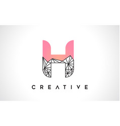 Letter h beauty logo h letter design with origami vector