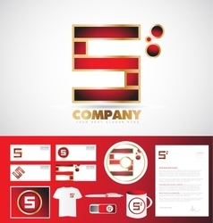 Letter s logo corporate identity template vector