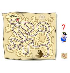 logic puzzle game with labyrinth for children vector image