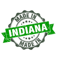 Made in indiana round seal vector