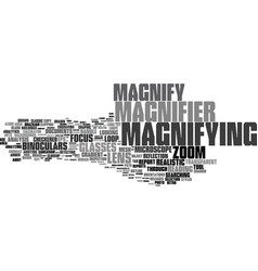 Magnify word cloud concept vector