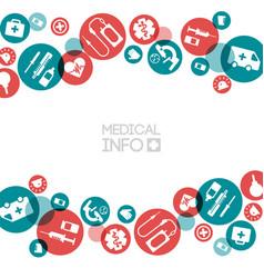 Medical info light template vector