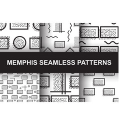 memphis seamless pattern vector image