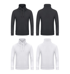Mockup template men kangaroo hoodie sweatshirt vector