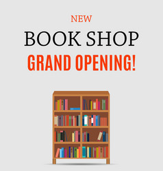 new book shop grand opening background vector image