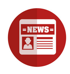 News paper isolated icon vector
