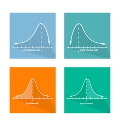 Normal Positive and Negative Distribution Curve vector