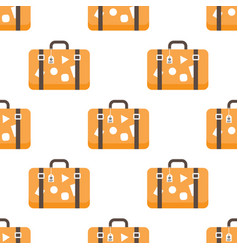 pattern with travel bags vector image