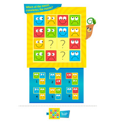 pieces completes the puzzle game vector image