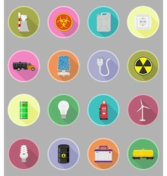 Power and energy flat icons 19 vector