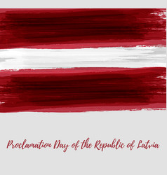 proclamation day of the republic of latvia vector image