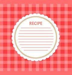 Recipe page mockup food notice cookery book vector