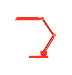 red table reading-lamp for education or work vector image