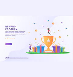 Reward program concept design people getting cash vector
