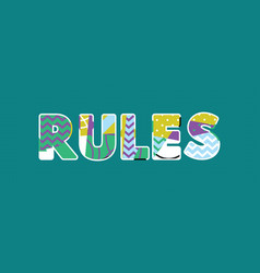 Rules concept word art vector