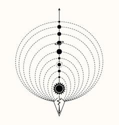 sacred geometry 0150 vector image