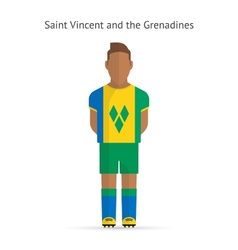 Saint Vincent and Grenadines football player vector
