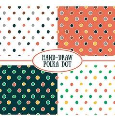 seamless cute retro pattern Polka dot set vector image