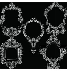 Set of Baroque Vintage Decoration Frames vector