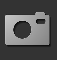 Slr camera on a background with reflection vector