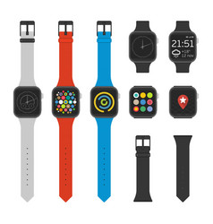 smart watches icon set vector image